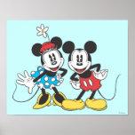 Mickey Mouse classique et Minnie Affiche