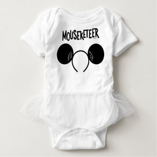 Mickey Mouse Club Ears Baby Bodysuit