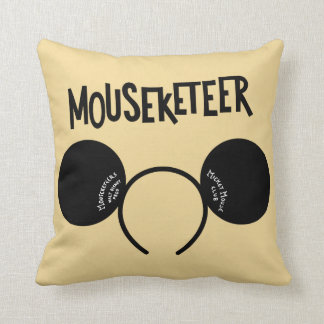 Mickey Mouse Club Ears Throw Pillow