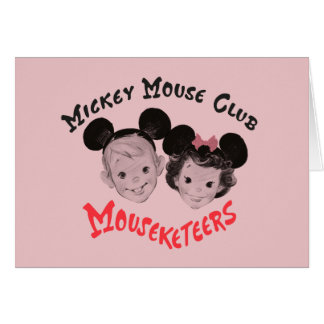 Mickey Mouse Club Mouseketeers Card