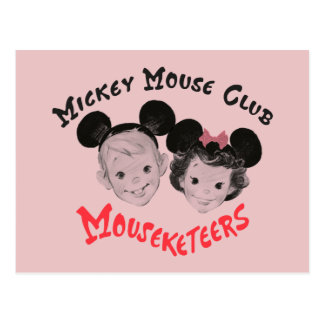 Mickey Mouse Club Mouseketeers Postcard