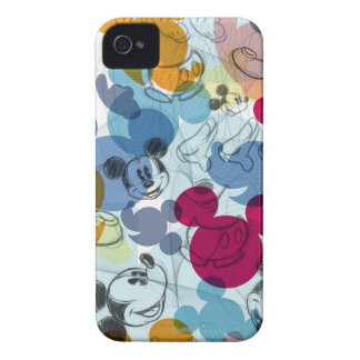 Mickey Mouse Color Pattern iPhone 4 Case