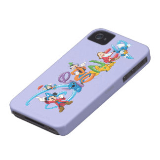 Mickey Mouse Color Pattern iPhone 4 Cases