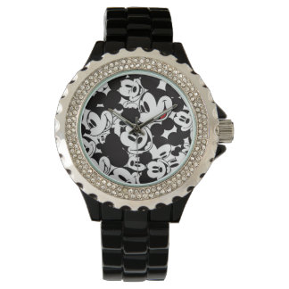 Mickey Mouse   Crowd Pattern Watches