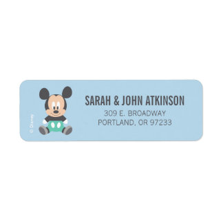 Mickey Mouse | First Birthday Return Address Label