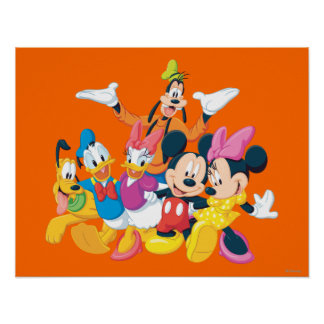 Mickey Mouse Friends 4 Posters