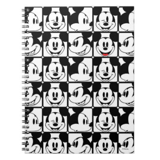 Mickey Mouse | Grid Pattern Spiral Notebook