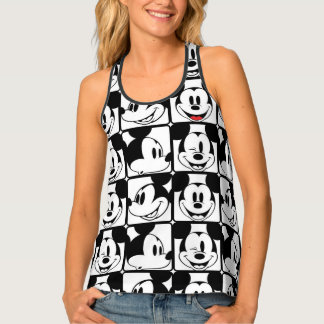 Mickey Mouse | Grid Pattern Tank Top