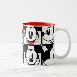 Mickey Mouse | Grid Pattern Two-Tone Coffee Mug
