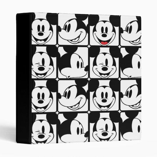 Mickey Mouse | Grid Pattern Vinyl Binders