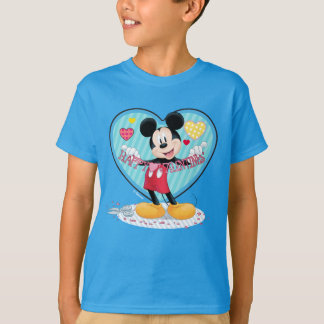 Mickey Mouse   Happy Valentines Day Cutout T-Shirt