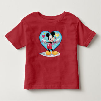 Mickey Mouse   Happy Valentines Day Cutout Toddler T-shirt