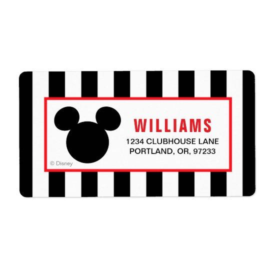 Mickey Mouse | Icon Black & White Striped Birthday