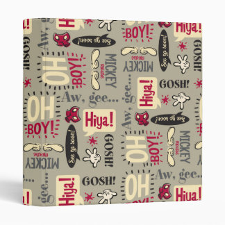 Mickey Mouse Icon Pattern 3 Ring Binders