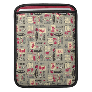 Mickey Mouse Icon Pattern iPad Sleeve