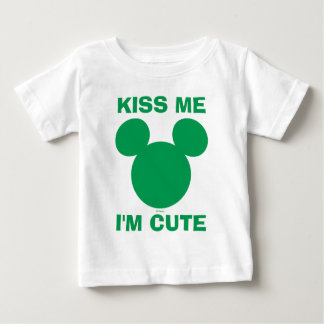 Mickey Mouse Kiss Me I'm Cute | St. Patrick's Day Baby T-Shirt