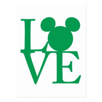 Mickey Mouse LOVE   St. Patrick's Day Postcard