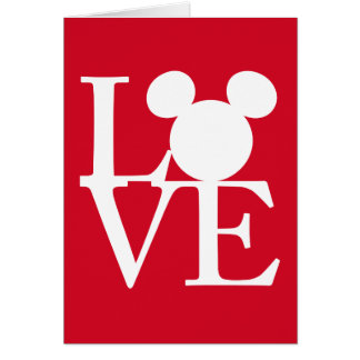 Mickey Mouse LOVE | Valentine's Day 3 Card