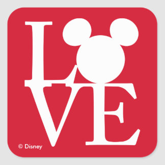 Mickey Mouse LOVE | Valentine's Day 3 Square Sticker