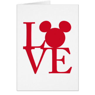Mickey Mouse LOVE | Valentine's Day Card