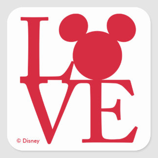 Mickey Mouse LOVE | Valentine's Day Square Sticker