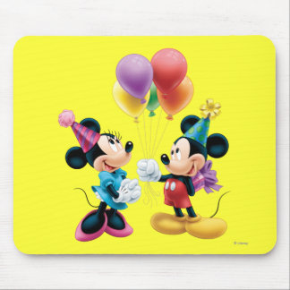 Mickey Mouse & Minnie Birthday Mouse Pad