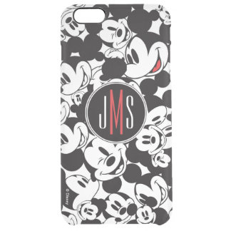 Mickey Mouse | Monogram Crowd Pattern Clear iPhone 6 Plus Case