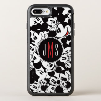 Mickey Mouse   Monogram Crowd Pattern OtterBox Symmetry iPhone 7 Plus Case