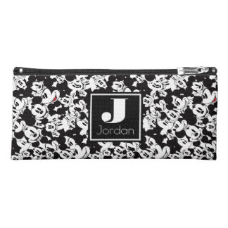 Mickey Mouse | Monogram Crowd Pattern Pencil Case