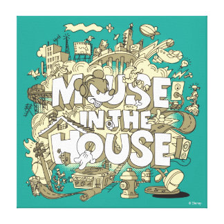 Mickey Mouse | Mouse In The House Canvas Print