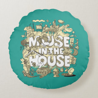 Mickey Mouse | Mouse In The House Round Pillow