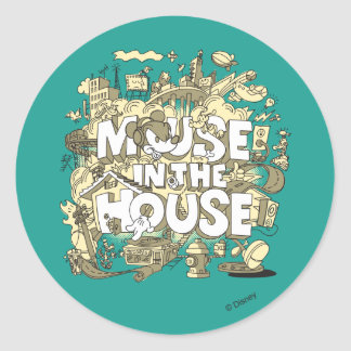 Mickey Mouse | Mouse In The House Round Sticker