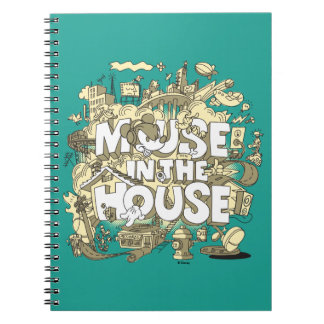 Mickey Mouse | Mouse In The House Spiral Notebook