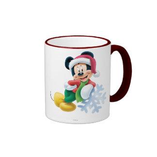 Mickey Mouse on Snowflake Mugs