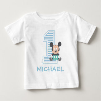 Baby apparel baby clothes mickey mouse personalized first birthday baby t shirt negle Choice Image