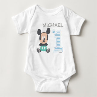 Mickey Mouse | Personalized First Birthday Tshirt