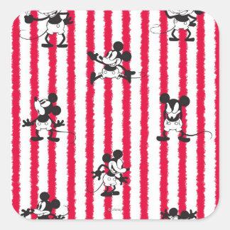 Mickey Mouse | Plane Crazy Pattern Square Sticker