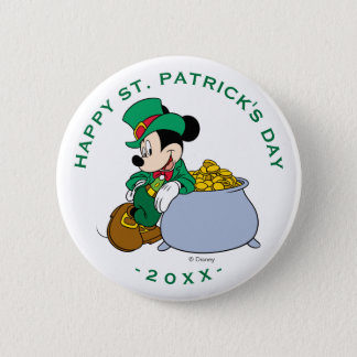 Mickey Mouse Pot of Gold | St. Patrick's Day 2 Inch Round Button