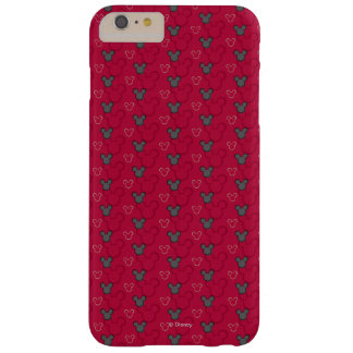 Mickey Mouse Red Pattern Barely There iPhone 6 Plus Case