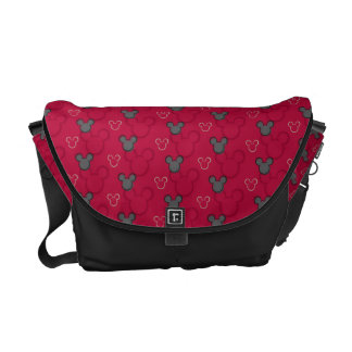 Mickey Mouse Red Pattern Messenger Bag