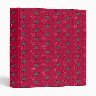 Mickey Mouse Red Pattern Vinyl Binder
