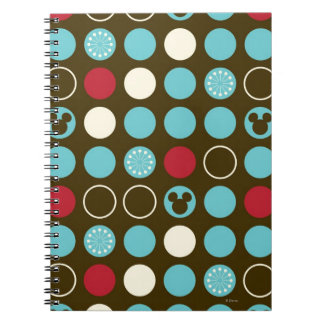 Mickey Mouse | Retro Polka Dot Pattern Spiral Note Book