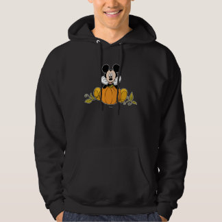 Mickey Mouse Sitting on Pumpkin Hoodie