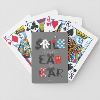 Mickey Mouse | Smile From Ear To Ear Bicycle Playing Cards