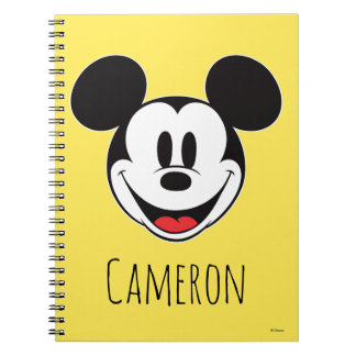 Mickey Mouse Smiling - Personalized Notebooks