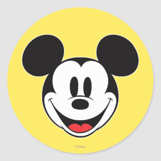 Mickey Mouse Smiling Round Sticker