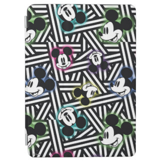 Mickey Mouse   Stripe Pattern iPad Air Cover