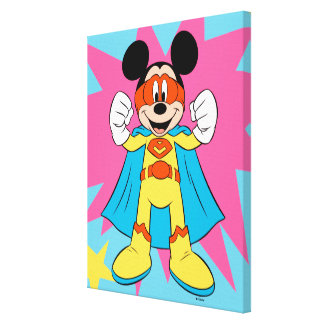 Mickey Mouse | Super Hero Cute Canvas Print