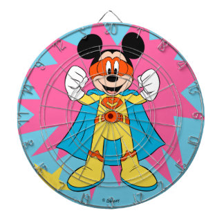 Mickey Mouse | Super Hero Cute Dartboard With Darts