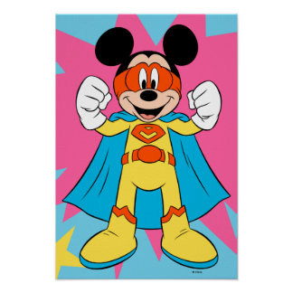 Mickey Mouse | Super Hero Cute Poster